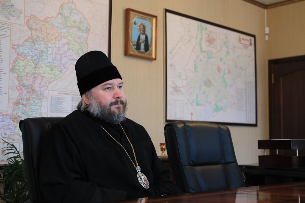 В Шахтинском епархиальном управлении состоялась встреча епископа Шахтинского и Миллеровского Симона и архиепископа Биробиджанского и Кульдурского Ефрема